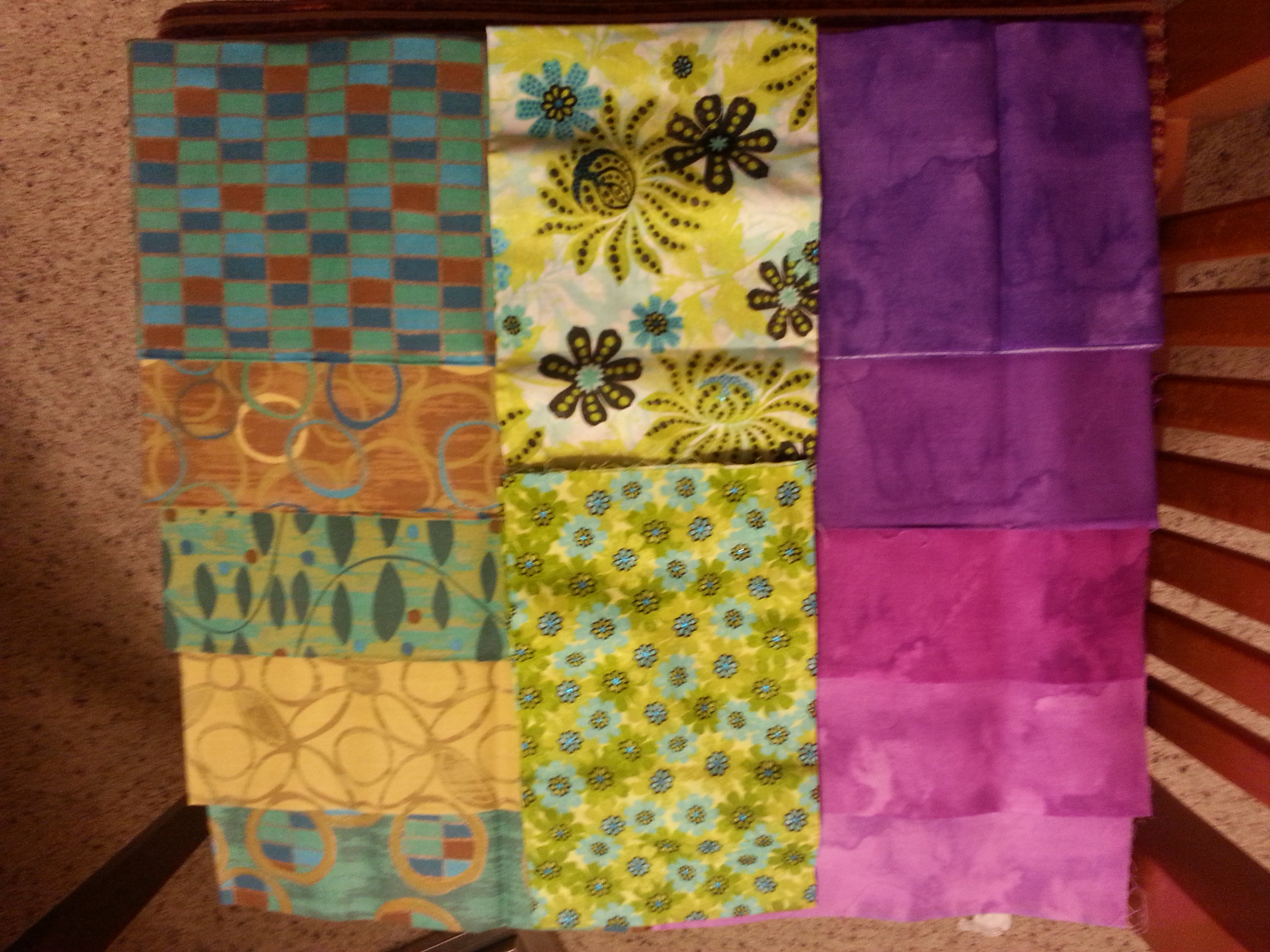 Remaining fabric from stacks...they may just turn into another Dutchman's Puzzle