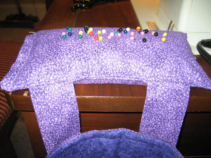 closeup pin cushion