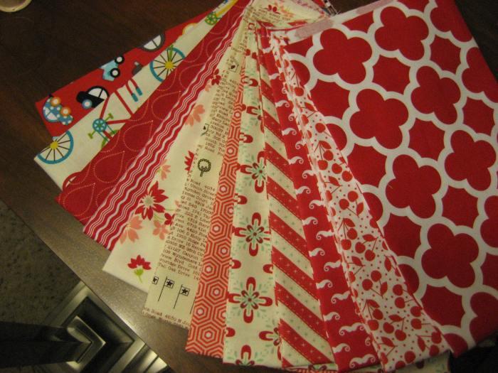 New fabrics top to bottom