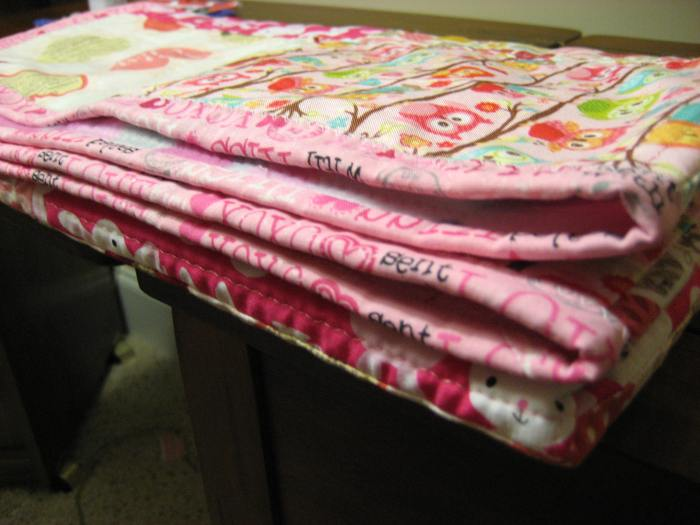 Baby quilt#2 side angle