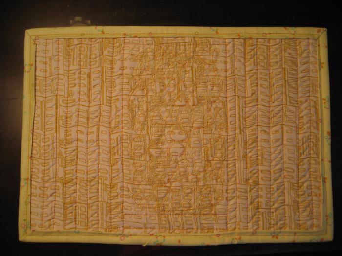 Back of mug rug