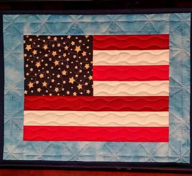 flag quilting