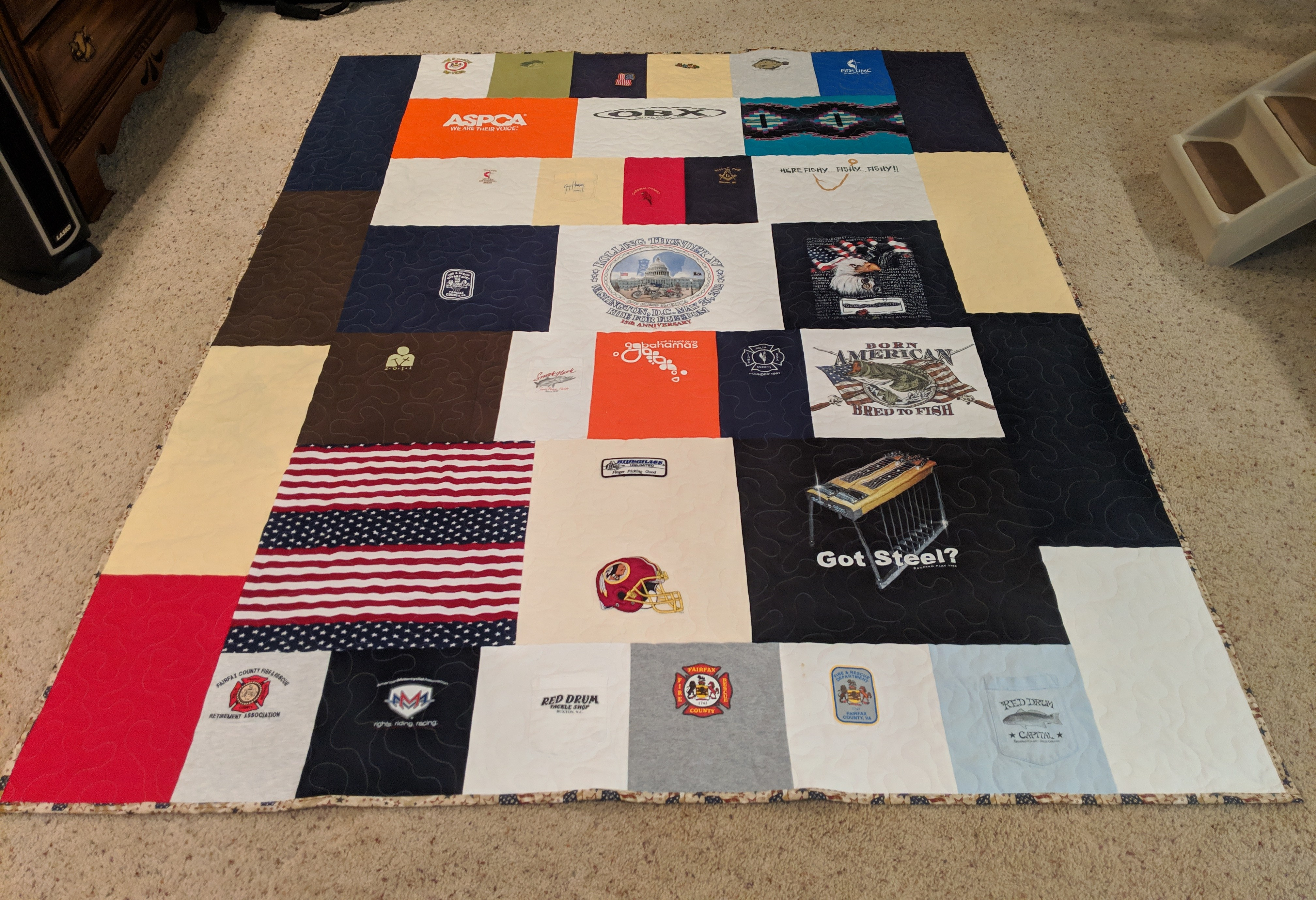 Melvas completed quilt